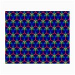 Honeycomb Fractal Art Small Glasses Cloth (2-Side) Back