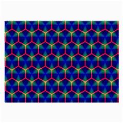 Honeycomb Fractal Art Large Glasses Cloth
