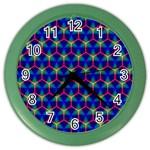 Honeycomb Fractal Art Color Wall Clocks Front