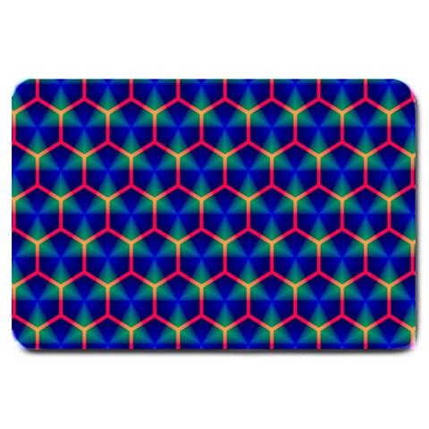 Honeycomb Fractal Art Large Doormat