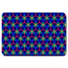 Honeycomb Fractal Art Large Doormat