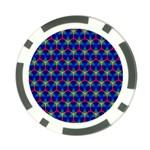 Honeycomb Fractal Art Poker Chip Card Guards Back