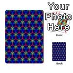 Honeycomb Fractal Art Multi-purpose Cards (Rectangle)  Back 1
