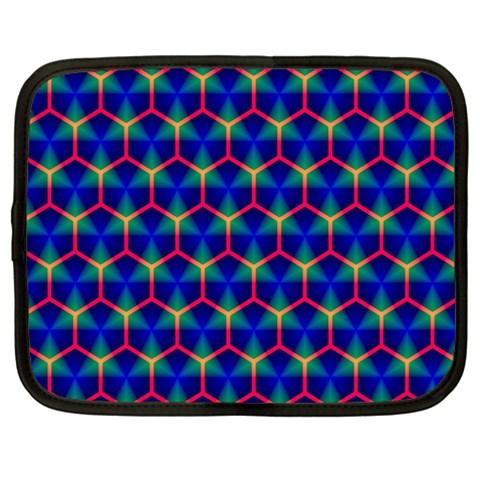 Honeycomb Fractal Art Netbook Case (Large)