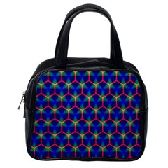 Honeycomb Fractal Art Classic Handbags (One Side)