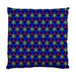 Honeycomb Fractal Art Standard Cushion Case (Two Sides) Back