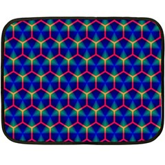 Honeycomb Fractal Art Fleece Blanket (Mini)