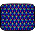 Honeycomb Fractal Art Fleece Blanket (Mini) 35 x27 Blanket