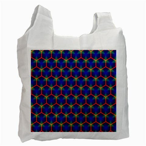 Honeycomb Fractal Art Recycle Bag (One Side)