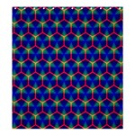 Honeycomb Fractal Art Shower Curtain 66  x 72  (Large)  66 x72 Curtain