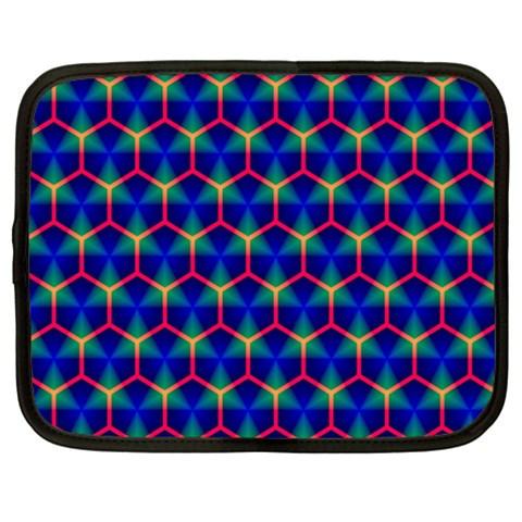 Honeycomb Fractal Art Netbook Case (XL)