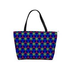Honeycomb Fractal Art Shoulder Handbags
