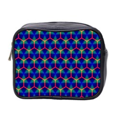 Honeycomb Fractal Art Mini Toiletries Bag 2-Side
