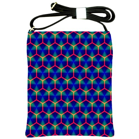 Honeycomb Fractal Art Shoulder Sling Bags