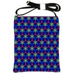 Honeycomb Fractal Art Shoulder Sling Bags Front