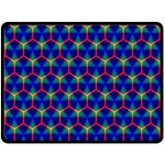 Honeycomb Fractal Art Fleece Blanket (Large)  80 x60 Blanket Front