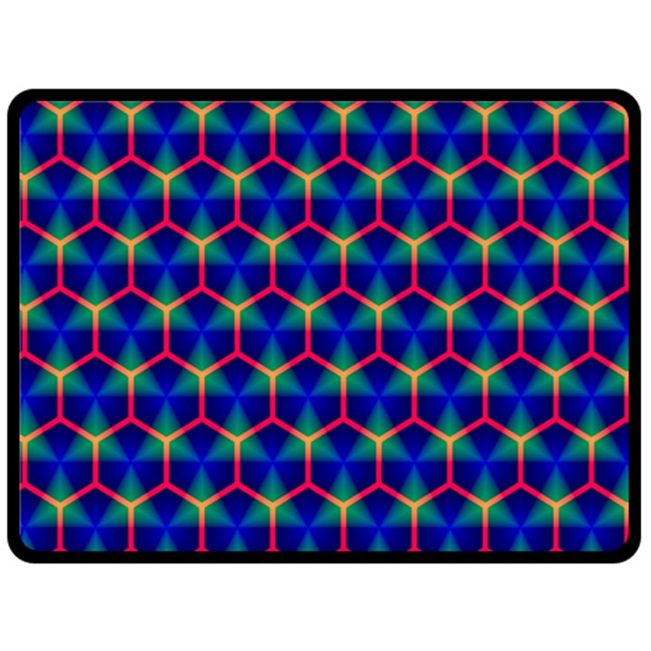 Honeycomb Fractal Art Fleece Blanket (Large)