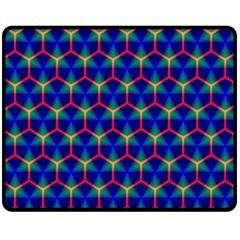 Honeycomb Fractal Art Fleece Blanket (Medium)