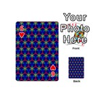 Honeycomb Fractal Art Playing Cards 54 (Mini)  Front - Heart6