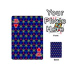 Honeycomb Fractal Art Playing Cards 54 (Mini)  Front - Heart10