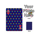 Honeycomb Fractal Art Playing Cards 54 (Mini)  Front - HeartK