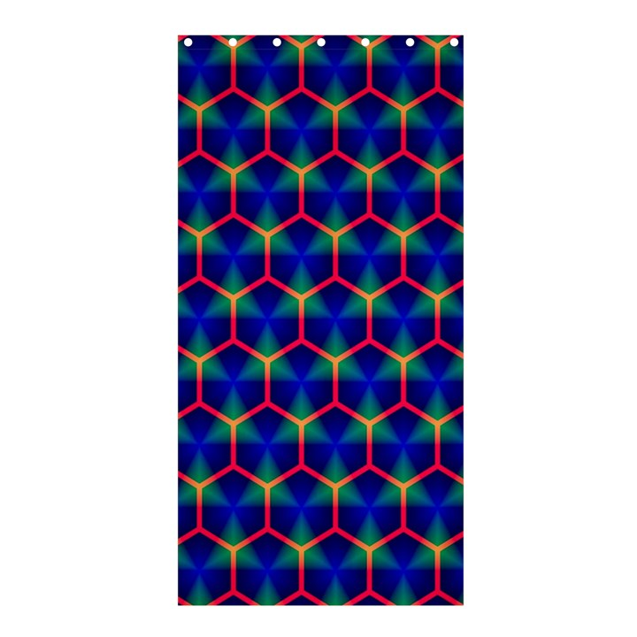 Honeycomb Fractal Art Shower Curtain 36  x 72  (Stall)