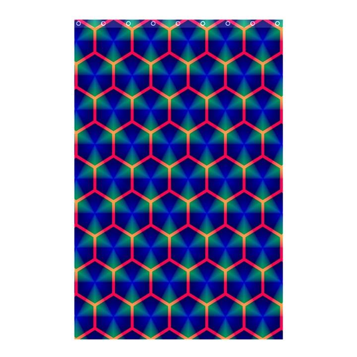 Honeycomb Fractal Art Shower Curtain 48  x 72  (Small)