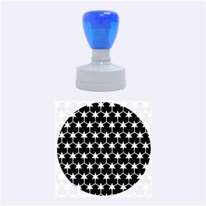 Honeycomb Fractal Art Rubber Round Stamps (Medium)