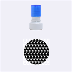 Honeycomb Fractal Art Rubber Round Stamps (Small)