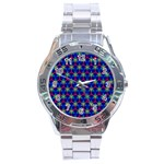 Honeycomb Fractal Art Stainless Steel Analogue Watch Front