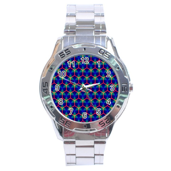 Honeycomb Fractal Art Stainless Steel Analogue Watch