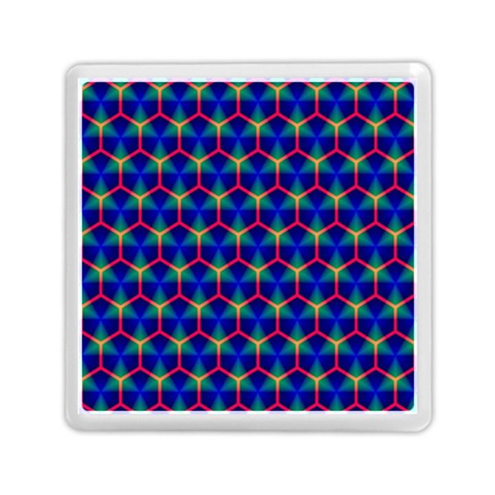 Honeycomb Fractal Art Memory Card Reader (Square)