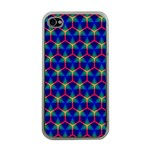 Honeycomb Fractal Art Apple iPhone 4 Case (Clear) Front