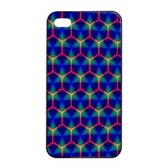 Honeycomb Fractal Art Apple iPhone 4/4s Seamless Case (Black)