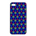 Honeycomb Fractal Art Apple iPhone 4/4s Seamless Case (Black) Front