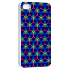 Honeycomb Fractal Art Apple iPhone 4/4s Seamless Case (White)