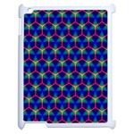 Honeycomb Fractal Art Apple iPad 2 Case (White) Front
