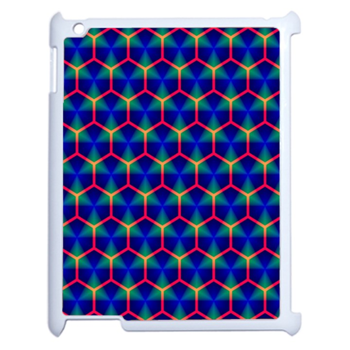 Honeycomb Fractal Art Apple iPad 2 Case (White)