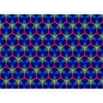Honeycomb Fractal Art Heart Bottom 3D Greeting Card (7x5) Front