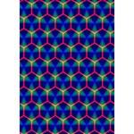 Honeycomb Fractal Art Heart Bottom 3D Greeting Card (7x5) Inside