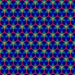 Honeycomb Fractal Art Twin Heart Bottom 3D Greeting Card (8x4) Inside