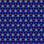 Honeycomb Fractal Art BEST BRO 3D Greeting Card (8x4) Inside