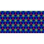 Honeycomb Fractal Art BEST BRO 3D Greeting Card (8x4) Back