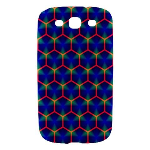Honeycomb Fractal Art Samsung Galaxy S III Hardshell Case