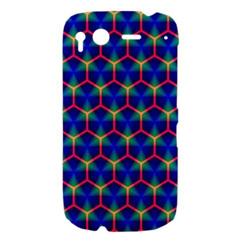 Honeycomb Fractal Art HTC Desire S Hardshell Case
