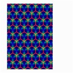 Honeycomb Fractal Art Small Garden Flag (Two Sides) Back