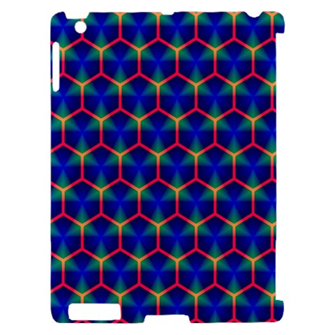 Honeycomb Fractal Art Apple iPad 2 Hardshell Case (Compatible with Smart Cover)