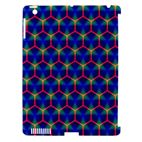 Honeycomb Fractal Art Apple iPad 3/4 Hardshell Case (Compatible with Smart Cover)