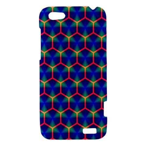 Honeycomb Fractal Art HTC One V Hardshell Case