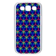 Honeycomb Fractal Art Samsung Galaxy S III Case (White)